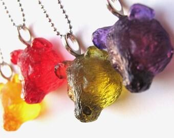 Gummy Bear Necklace - Gummy Bear Necklace - Resin - Candy Necklace - Bear Necklace - Gummy Bear Charm - Gummy Bear Charm