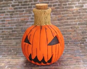 READY TO SHIP! Pumpkin Vase, Polymer Clay Vase, Pumpkin