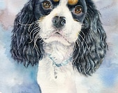 Custom listing for Lora. 2 8 x 10 dog portraits of her dogs