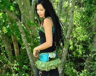 Hippie Clothes Green Above the Bust Vest Festival Clothing Gypsy Clothes