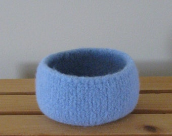 Felted Bowl in Powdery Baby Blue - In Stock - Ready to Ship