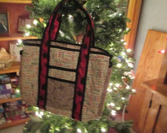 Hand made Large Tote Bag called Retreat's Little Sister your choice of fabrics