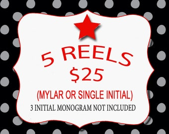 5 For 25.... U Design Monogrammed ID Reels...5 For 25...Great for gift giving