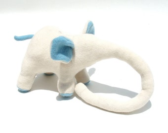 White Elephant with Blue Ears