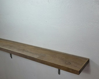 "Large wood shelf rustic style, 47.5""x8""x9.25"""