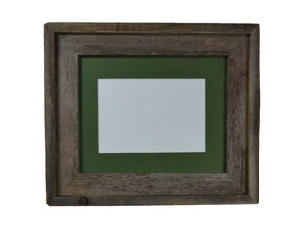 8x10 eco friendly wood picture frame with 5x7 or 6x8 mat