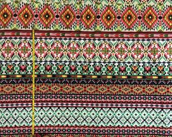 Ponte de Roma aztec knit fabric  1 yard