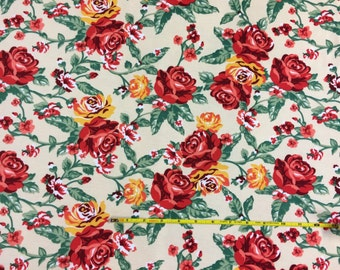Ponte de Roma floral knit fabric  1 yard
