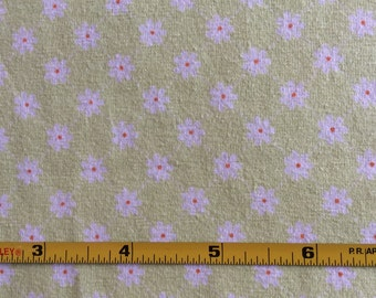 NEW Riley Blake Dream and a Wish daisies on mint cotton  Lycra  knit fabric 1 yd