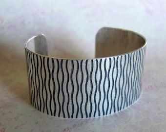 Silver Squiggle Cuff Bracelet 3717