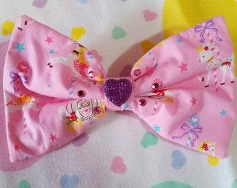 Carousel bow, deer hair clip fairy kei sweet lolita harajuku fashion merry go round