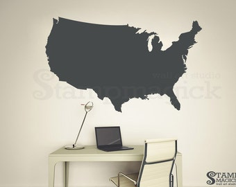 North America Map Decal United States USA US Map Wall Decal - Us state sticker map
