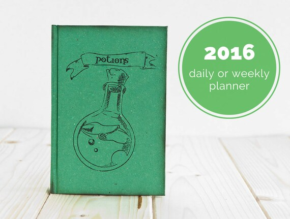 Potions Notebook or Daily Planner or Weekly Planner