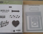 Stampin ' Up! Peachy Keen and Big shot On Film framelits brand new
