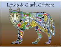 Lewis & Clark Coloring Book • EarthArt Coloring Book • Lewis and Clark Colouring Book (EACB-95819)