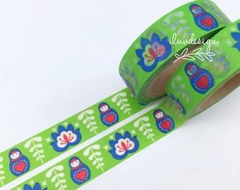 SALE Russian Doll Washi Tape • Bus Ticket Washi Tape • Fireworks Washi Tape • Floral Garden Washi Tape • Babushka Matryoshka