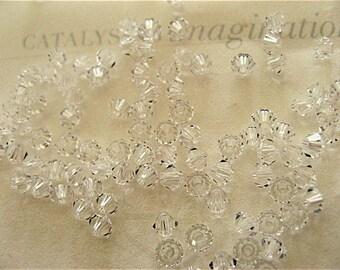 48 Clear Crystal Swarovski Crystal Beads Bicone 5328 2.5mm