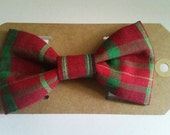 1/2 OFF SALE Plaid Red Green Bow Tie dogs cats collar dog bows pet pets