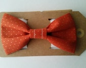 1/2 OFF Pumpkin Orange Gold Dots Pets Dog Cat Bow Tie Pet Collar Bows