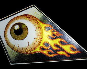 Flaming Eyeball Sticker