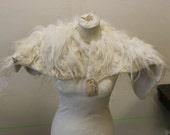 RESERVED for Kylie Parker: Veggiefur broad handfelted wool collar