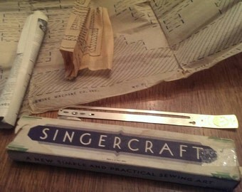 Vintage Singercraft Guide from the 1930's  With box, instructions and patterns