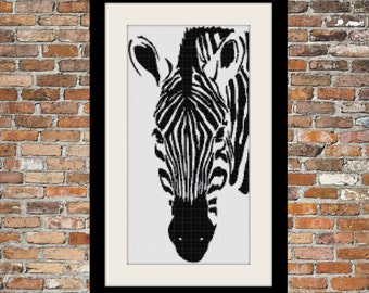 Zebra II - a Counted Cross Stitch Pattern