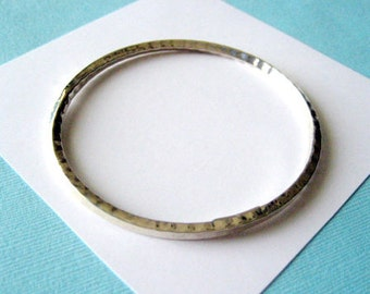 Hammered Sterling Silver Bangle