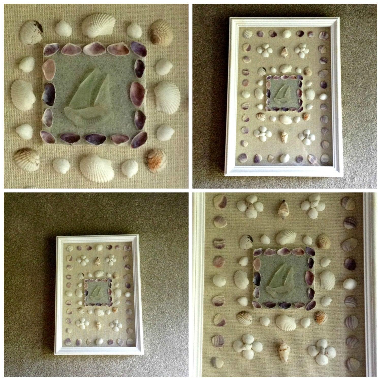 Beach Themed Shadow Box Ideas: Beach Theme Home Decor White Shadow Box Called By