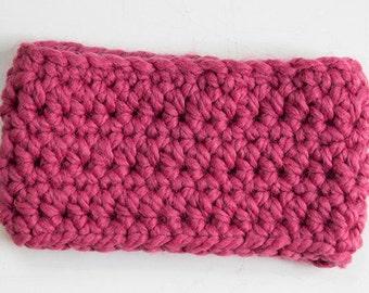 Pink Women's Headband, Ear Warmer