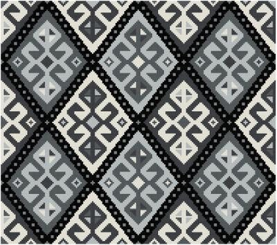 harlequin diamond rug adaptation cross stitch pattern pdf. Black Bedroom Furniture Sets. Home Design Ideas