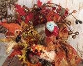 Thanksgiving centerpiece turkey centerpiece fall decor autumn decor decorated box toni kelly