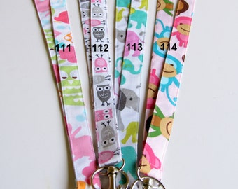 Novelty Fabric Lanyards 1/2 in. or 3/4 in.with or without  breakaway option, safety lanyard, Elementary Teacher ID, Kindergarten teacher