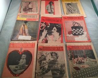 9 Vintage 1964 THE WORKBASKET Booklets Magazine Crochet Crafting Ideas