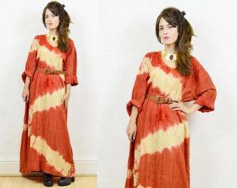 90s boho dress, kaftan dress, vintage kaftan, tie dye dress, 90s hippie dress, maxi kaftan dress, boho maxi dress, hippie dress, kaftan