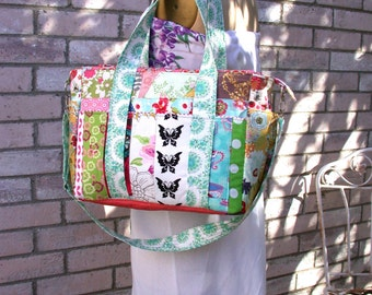 Modern Diaper Bag -Patchwork Stylish Modern Diaper Bag-Travel bag-Weekender
