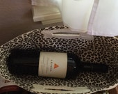 Not your usual wine bag made ready to ship  Embroidered wih R