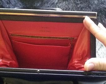 Vintage Viki Original Red Interior Leather Kelly Bag