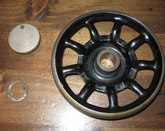 Vintage 9-spoked Balance Wheel/Hand Wheel from 1920 Singer Model 127 Treadle Sewing Machine