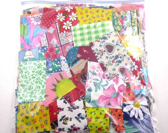 Huge Bag of Assorted Fabric Scraps Pieces or Material Lot E