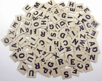 Vintage 1940s Ivory Anagrams or Letter Tiles or Game Pieces Set of 130