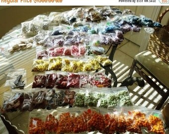 Antique Beads, 1960-1970's HUGE  collection,  Venetian Beads, Italian Glass, Chevron, African Trade Beads, Plastic, Metal,