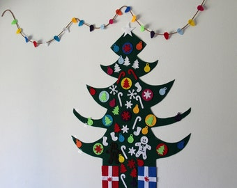 Felt Christmas Tree, Kids Friendly Christmas Tree ,Kids Play,READY TO SHIP