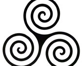 Vinyl Decal, TRIPLE SPIRAL