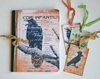 Raven Journal, composition notebook, autumn notebook