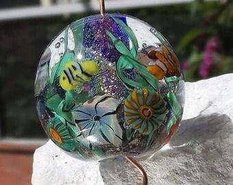 Reef - Lampwork Beads - Aquarium Bead