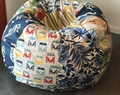 NEW VW buses UNFILLED to Australia bean bag with seahorses, hawaiian print, cabanas and surfboards