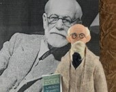 Sigmund Freud Doll Miniature Psychiatrist Science Art Collectible