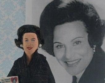 Abigail Van Buren Doll Miniature Advice Column Newspaper Writer Handcrafted Art Character