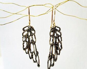 Angel Wing Earrings - Silver